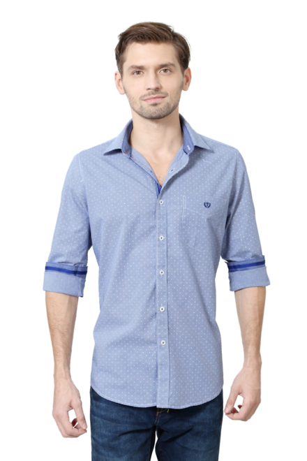 van heusen sport shirts van heusen blue shirt for men at